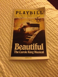 "Why yes, we did do the ""get the playbill signed"" thing at the stage door for the very first time."