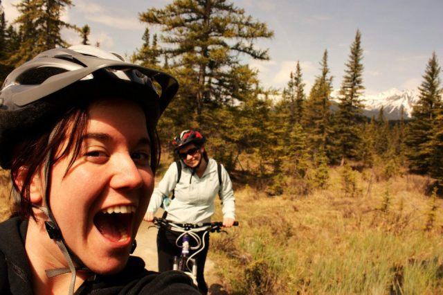Bike riding in Jasper
