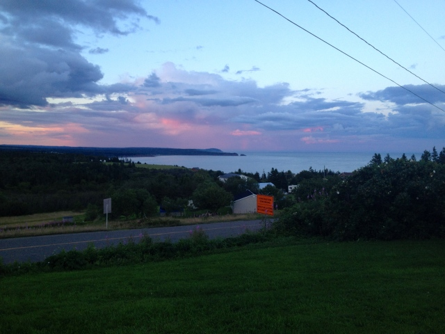 Saint John - the view from our B&B