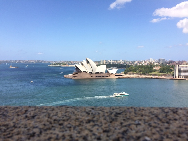 From the Sydney Harbour Bridge