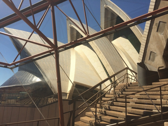From inside the Opera House