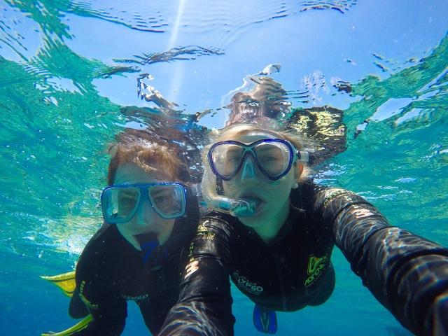 Snorkelling selfie